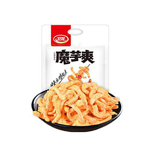 Wei Long Konjac Chinese Snack (Sour Spicy) 卫龙魔芋爽 香辣 Moyushuang 180g-10 inner pack