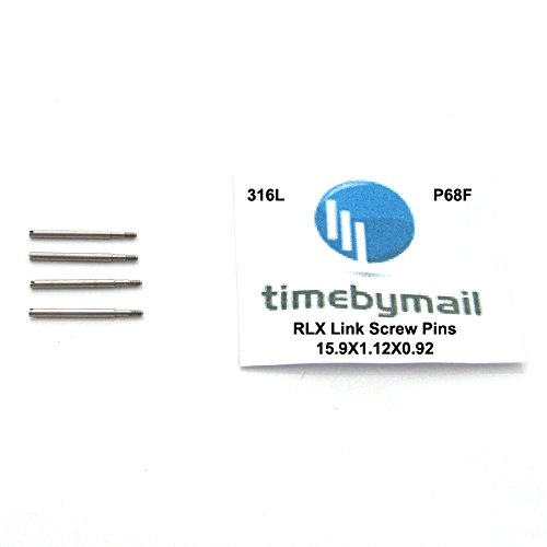 Timebymail Watch Screw LINK PINS For ROLEX Stainless Steel Strap Bracelet Band Spare Parts (13.4mm X 1.8mm)