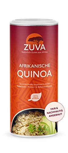 ZUVA Afrikanische weiße Quinoa: Reich an Proteinen und Ballaststoffen, das Premium Superfood aus Afrika (400g), 2er Pack
