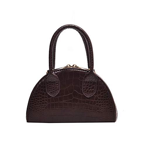 MAWOLY Neue Schulter Messenger Bag Casual Wild Bag Kunstleder Tasche Trend Bag (One size, Kaffee)