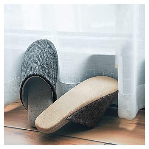 HAQMG Pantuflas Zapatillas para Hombres Y Mujeres Unisex Zapatillas De Interior De Interior De Espuma De Memoria De Espuma De Espuma Suave De Peluche Zapatos Lavables Mudo Suave Inferior