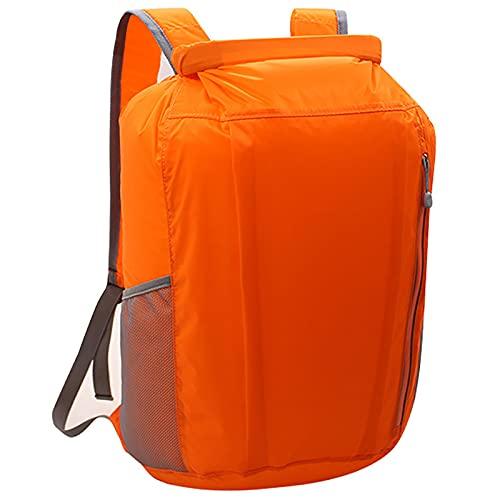 YCYUYK Mochila impermeable 20l sumergible inflable flotante nylon seco bolsa con cremallera hermética para kayak navegación (naranja)