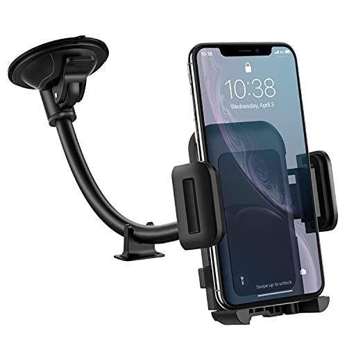 Porta Cellulare Auto, Supporto Cellulare Auto per Parabrezza, Regolabile a 360 Gradi e Antiscivolo, Supporto Smartphone per Auto, Compatibile con Tutti i Dispositivi