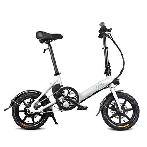 Gowsch Bicicleta eléctrica de aleación de Aluminio FIIDO D3 Bicicleta eléctrica Plegable EBike 250W Bicicleta eléctrica de 14'con batería de Iones de Litio de 36V / 7.8AH para Adultos y Adolescentes