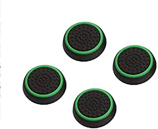 4 pcs Silicone Analog Thumb Stick Grips Cover for Playstation 4 PS4 Pro Slim/PS3 /Xbox 360 One -Green