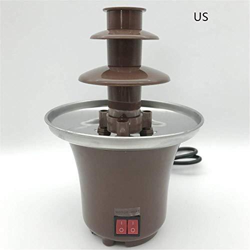 MiaZhou Mini Chocolate Fuente Fondue Maceta Chocolate Deshace Máquina para Fiesta Infantil - US Plug