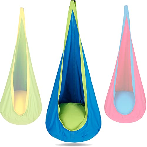 PikDos Kids Pod Swing Hanging Seat Indoor and Outdoor Use Child...
