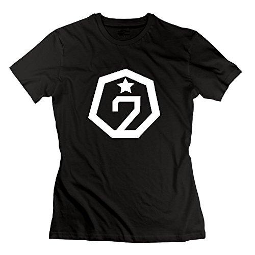 Quxiangy Women's GOT7 T-Shirt Bambam Mark Jackson Youngjae Tee Shirt Black
