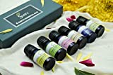 SVATV -Aceites esenciales, set de regalo de aromaterapia Top 6 Premium Grade - Pétalo de rosa, sándalo, neroli, limoncillo, lavanda, jazmín - 6x10ml