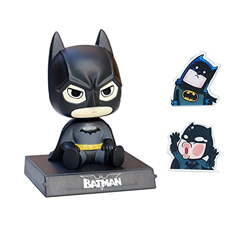Anime Bobble Head Car Decorations Kids Gift, Self-Sticking Car Interior Accessories Dashboard Bobblehead Cartoon Car Dashboard Bobblehead Batman, Cute Doll Car Accessories Batman Car Phone Holder