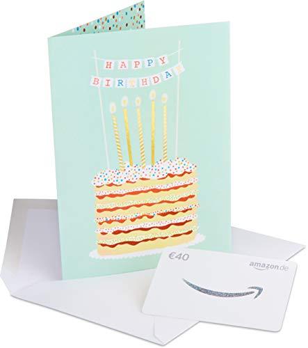 Amazon.de Geschenkkarte in Premium Grußkarte - 40 EUR (Geburtstag)