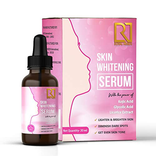 ROYAL NEEDS ; YOUR HIGHNESS New and Advanced Skin Lightening Brightening Serum with Kojic Acid, Glycolic Acid and Licorice Extract for Dark Spots for Face, Neck and Body [30ml]