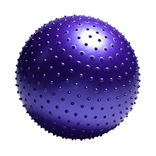 XDDQB Yoga-Ball Soft Pilates Pezzi Ball St?Rkung Der Bauchmuskulatur FüR Fitness Reha Fitnessball Yoga Ball FüR Erwachsene Fitnessball Soft Pilates-Stachel-Lila 55cm