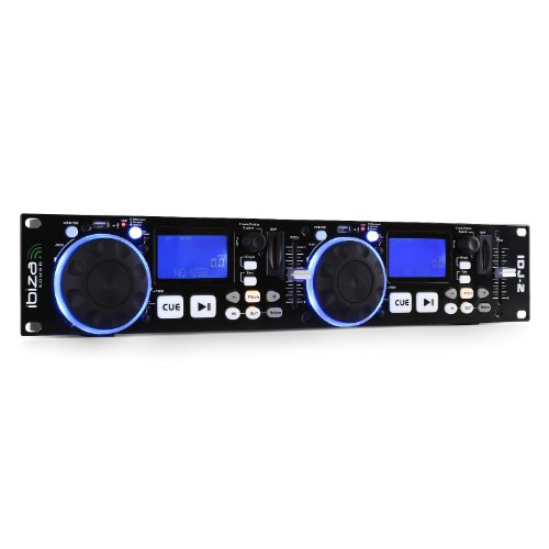 Ibiza IDJ2 DJ-Set, Schwarz