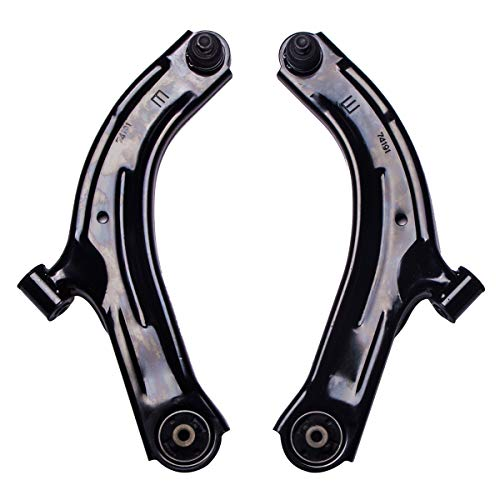 Front Lower Control Arm and Ball Joint Assembly Compatible With Nissan Cube Tiida Versa Driver Passenger Side AUQDD 2PCS K620566 K620567 Left Right Professional Suspension
