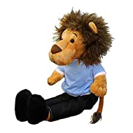 Lion Plush Toy, Stuffed Animal 48 cm Hanging Plushie Doll,Soft Fluffy Hug Cushion Pillow - Super Present for Every Age & Occasion