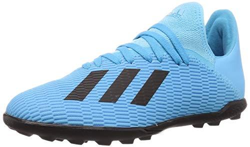adidas Kinder Fussballschuhe X 19.3 TF J BRCYAN/CBLACK/SHOPNK 38