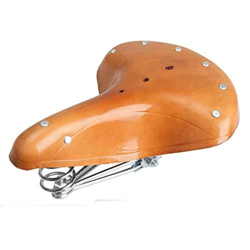 Zxcvbnm Fietszadel Retro Lederen Vintage Lederen Klassieke oude stijl Fietszadel Voor Mountain Road Fold Bike
