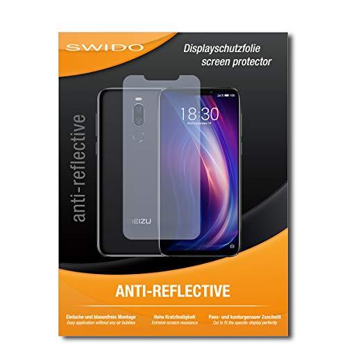 SWIDO Schutzfolie für Meizu X8 [2 Stück] Anti-Reflex MATT Entspiegelnd, Hoher Festigkeitgrad, Schutz vor Kratzer/Bildschirmschutz, Bildschirmschutzfolie, Panzerglas-Folie