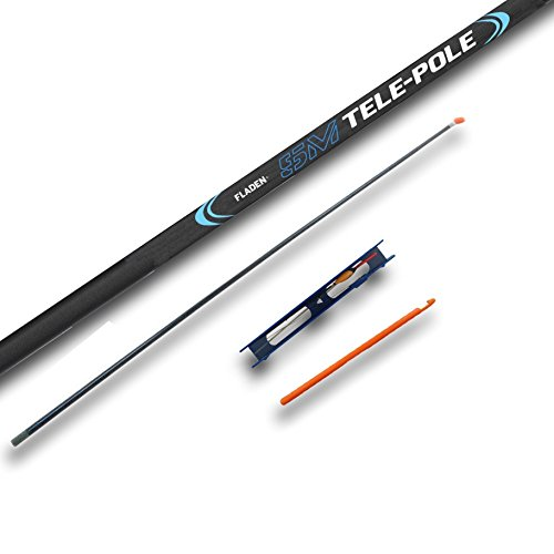 FLADEN Fishing - 5m / 16ft Starter TELE WHIP POLE Combo Collapses to 115cm Fishing Tackle Set for Big Freshwater Fish - Comes with Spare Elasticated Top Kit, Ready Tied Rig and Disgorger [12W-105]