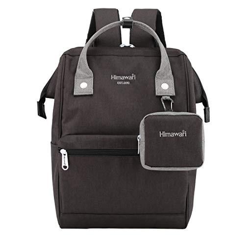 Himawari Travel Laptop Backpack for Men Women, Huge Capacity 15.6'' Computer Notebook Bag for School College Students(Black&Gray))