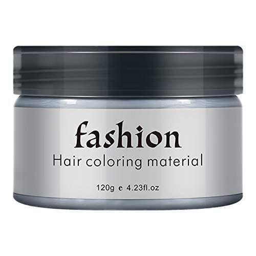 SNOWINSPRING Temporaire Couleur des Cheveux Cire Hommes Bricolage Boue une Seule Moulage Pate Teinture CrèMe Gel pour les Cheveux pour la Coloration des Cheveux Style Gris