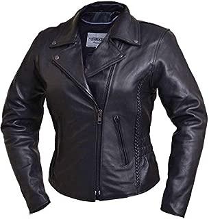 Unik International Ladies Traditional Braided Motorcycle Jacket 2XL