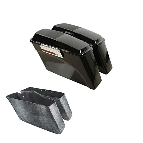 TCMT Motorcycles Hard Saddlebags Trunk W/ 6x9' Speaker Lid Latch Key Fits For Harley Touring Road King 1994 95 96 97 98 99 00 01 02 03 04 05 06 07 08 09 10 11 12 2013