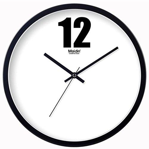 JIE KE Reloj de Pared de la Manera Reloj de Sala de Estar de Cuarzo Creativa Personalidad Simple Reloj Arte IKEA Estilo Mudo (Color : 11 Inches)
