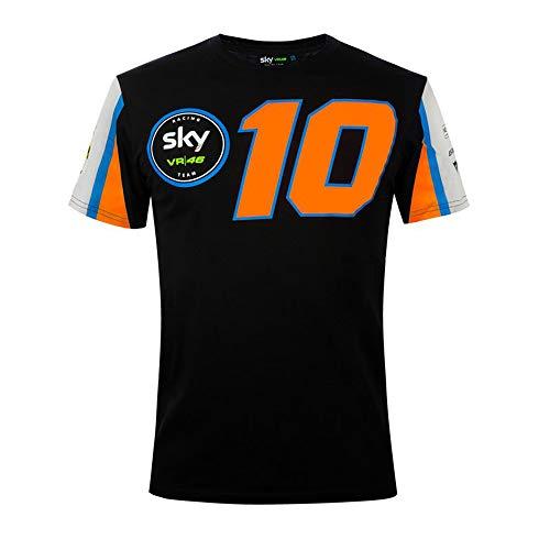 Valentino Rossi Kollektion Luca Marini Herren-T-Shirt, Herren, Unterhemd, Schwarz, XL