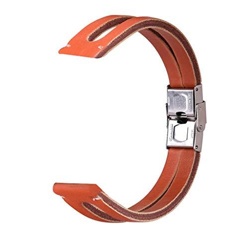 Correa Compatible con Xiaomi Huami Amazfit GTS ,riou Correa de Reloj de Pulsera de Cuero Retro de Repuesto para Reloj Inteligente Compatible con Huami Amazfit GTS