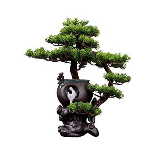 jinrun Bonsai Plant Artificial Tree Bonsai Simulation Tree Outdoor Garden Home Decoration Simulation Tree Fake Potted Plant Height 16.92 Inches Artificial Bonsai Tree (Color : A)
