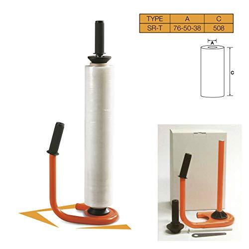dispenser van metaal voor folie, uitbreidbaar tot verpakking