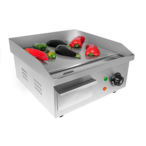 ALDKitchen Flat Top Griddle   Teppanyaki Grill with Single Thermostat   Commercial Griddle   21.50' x 16.00'   110V