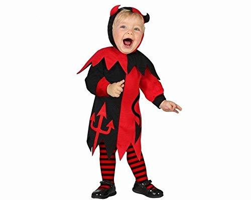 Atosa-39566 Disfraz Demonia para Niña Bebé, color rojo, 12 a 24 meses. (39566)
