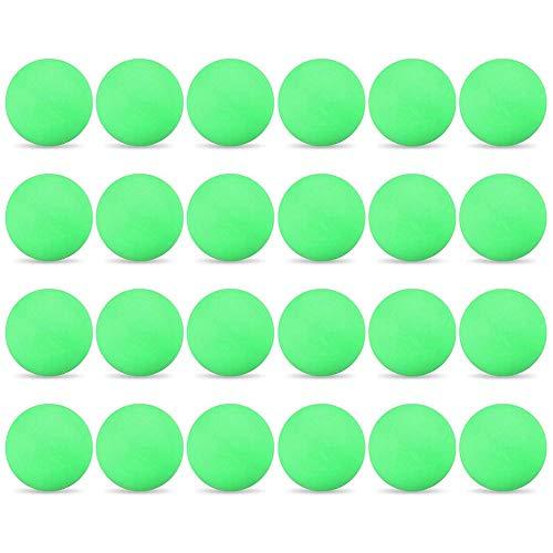 Lixada 24PCS 3-Star 40mm Pelotas de Tenis de Mesa Pelotas de Ping Pong Pelotas de Entrenamiento Avanzado para Aficionados (Verde)