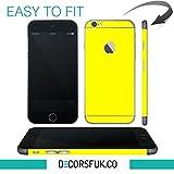 Adhesivos para iPhone 6, color amarillo, para iPhone 6, solo para la parte posterior del teléfono