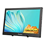 Portable Monitor Pisichen 11.6 Inch 1366x768 Dual Mini HDMI USB Input Computer Gaming Display Screen Monitors for Xbox One PS3 PS4 Raspberry Pi CCTV Home Security -Built-in Speakers