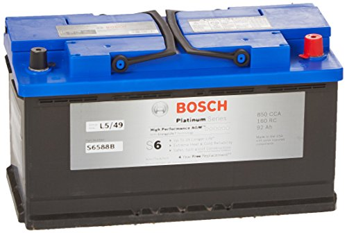 Bosch S6588B S6 Flat Plate AGM Battery