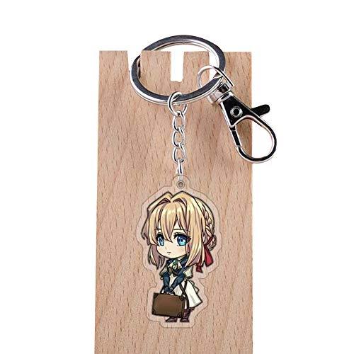ALTcompluser Anime Violet Evergarden Karabiner Schlüsselanhänger Doppelseitig Schlüsselbund Schlüsselring Acryl Anhänger, Dekoration für Tasche/ Rucksack / Mäppchen( Violet Evergarden 4)