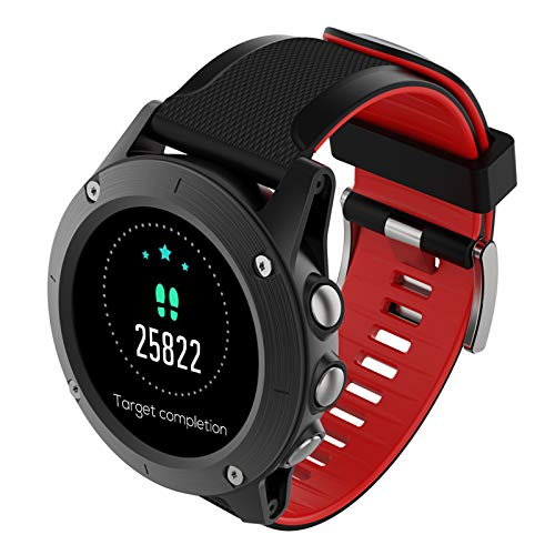 XIMULIZI Sport Smart Watch Multifunktionaler 1.3 Zoll Full Touch Screen-Männer im Freien wasserdicht Positionierung Bluetooth Herzfrequenzsensor, Outdoor Adventure,Rot