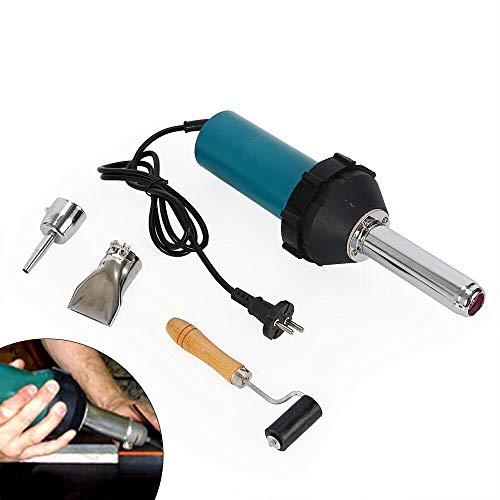 Heißluftpistole 1080W Kunststoff Schweißer Schweißen Heißluftpistole Lötarbeiten Schweissen Kunststoffschweißgerät mit Bleistiftspitzendüse Düsen Roller Auf PVC-Kunststoffstange