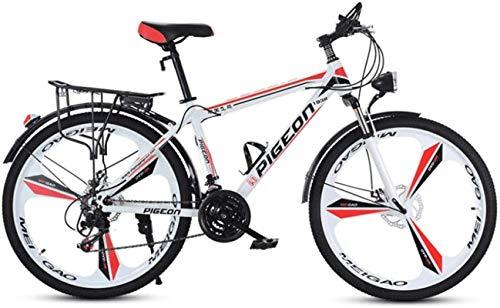 HCMNME Mountain Bikes, Bicicletta da 24 Pollici Mountain Bike Uomo e Biciclette da Donna velocità variabile velocità Città Bicicletta Bicicletta Integrata Telaio in Lega con Freni a Disco