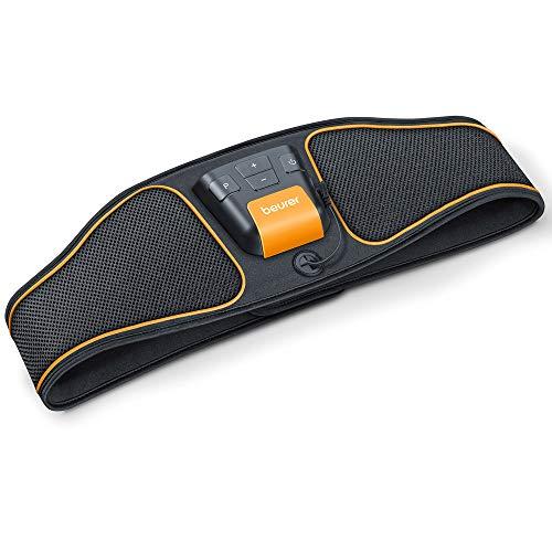 Beurer EM 37 Electroestimulador EMS Cinturón Abdominal,5 programas de entrenamiento, 4 electrodos agua sin necesidad de geles ni recambios, pantalla LCD, 70-140cm cintura ✅