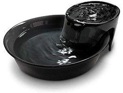 Pioneer Pet Big Max Ceramic Drinking Fountain, 128 Ounces (Black)