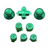 hnsgscmyyxgs D-Pad DPAD Botones, Compatible con Xbox One Controller Reemplazo de Accesorios Kits Thumbstick Joystick Analog Cap Bullet ABXY Botón de guía ( Color : Green )