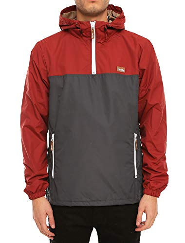 Iriedaily Auf Deck Windbreaker [Anthra red]