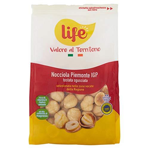 Life Nocciole del Piemonte IGP Tostate Sgusciate 200 gr, Nocciole sgusciate, Nocciole intere fonte di Fosforo, Magnesio e Potassio, Frutta secca, Snac