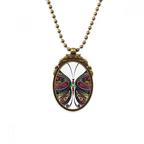 DIYthinker - Collar con Colgante de latón Envejecido, diseño de Mariposas y alas Decorativas de...