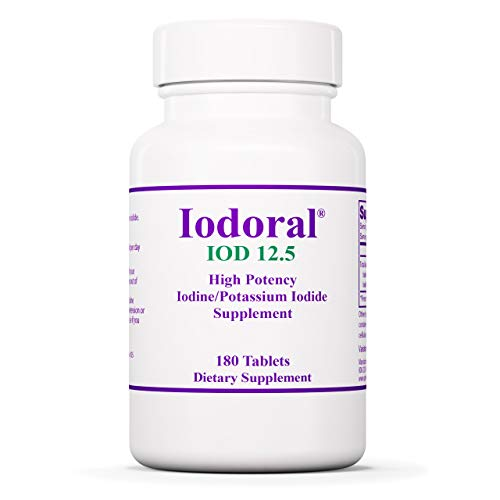 Optimox Corporation, Iodoral, Iodine/Potassium Iodide ( Jod und Kaliumiodid ), 180 Tabletten